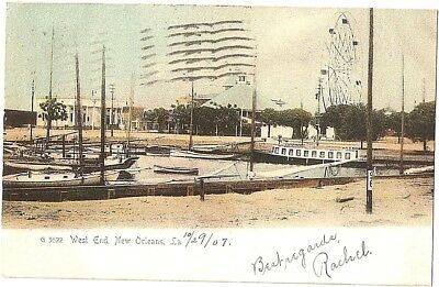 WEST END 1907 New Orleans La Rotograph Postcard to Honduras