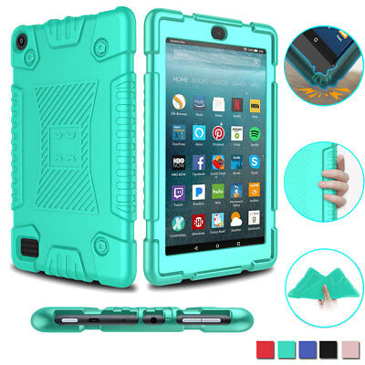 For Amazon Kindle Fire HD 8 8th Generation 2018 Silicone Tough Tablet Case Cover