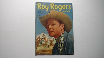 ROY ROGERS #38 Dell Golden Age Comic 1951 VG+ 52 Pages All Comics! Photo cover