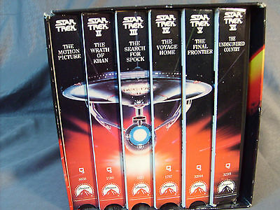 Star Trek The Movie Collection VHS All 6 Star Trek Movies in Box Great Xmas Gift