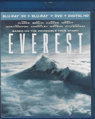Everest 3D (3D Blu-Ray Disc Only - 2016) Nice Used ~Josh Brolin, Jake Gyllenhaal