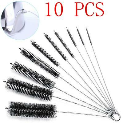 10PCS Household Bottle Brushes Pipe Bong Cleaner Glass Tube Cleaning Tool Set US