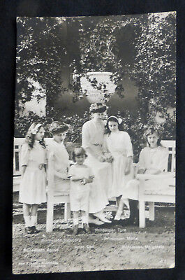 Swedish Royalty, Prins Carl & 5 Prinsessans, Photo Card, circa 1910