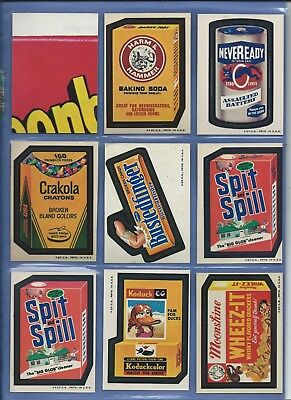 Wacky Packages Series 3 Complete Set 30 Of 30 Plus Spit Error 31 Total Nm