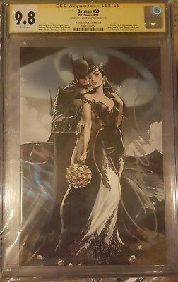 Batman #50 Campbell Cover F__CGC 9.8 SS__Signed by J Scott Campbell Catwoman