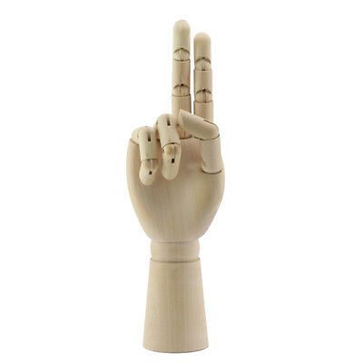 7 Inch Jointed Wood Hand Mannequin Human Hand Model Jewelry Stand Watch Rack