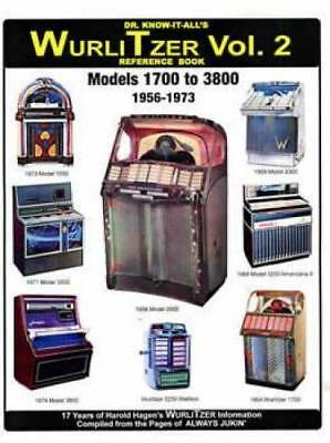 Dr Know It All's WurliTzer Jukeboxes Vol 2 Reference Book Models 1700 to 3800, 1