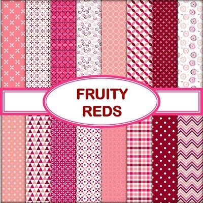 FRUITY RED SCRAPBOOK PAPER - 16 x A4 pages