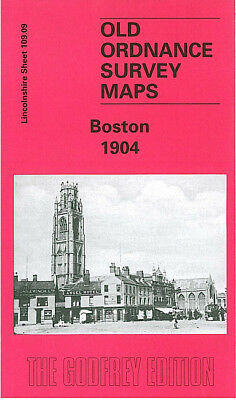 Old Ordnance Survey Map Boston 1904 Liquorpond Street Tower Road Wide Bargate