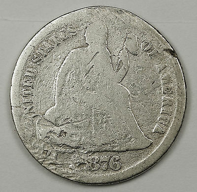 1876-cc Liberty Seated Dime  Circulated.  98223