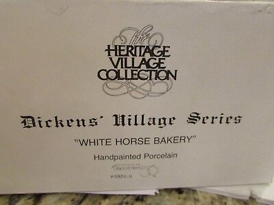 Dept 56 59269 White Horse Bakery Dickens Village Building No Cord  D12