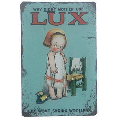 Lux Soap Tin Sign Laundry Washing Wall Plaque Home Bar Shed 30cmx20cm - New