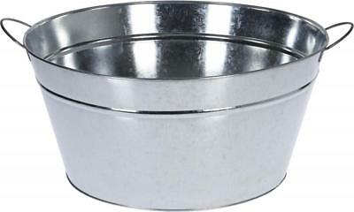 Round 41cm Zinc Tin Cool Cooler Champagne Ice Bowl