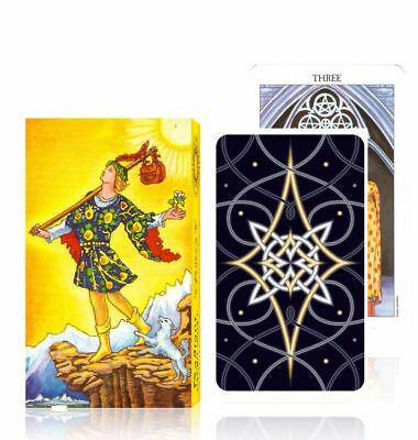 Radiant Tarot Deck Popular Vintage Classic Tarot Cards Set Board Game