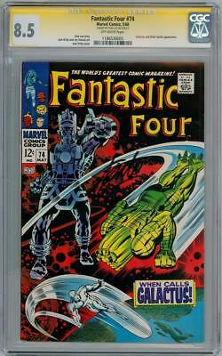 Fantastic Four #74 Cgc 8.5 Signature Series Signed Stan Lee Silver Surfer Movie