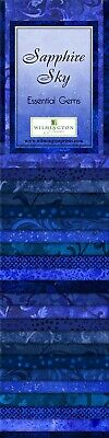 Sapphire Sky Essential Gems 24pcs 2-1//2in x 44in Strips Jelly Roll Fabric 802-5
