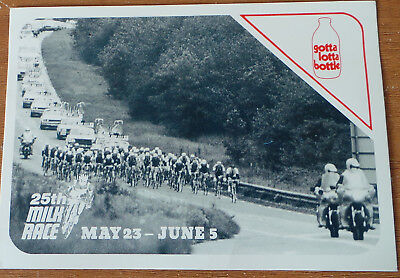1982 Great Britain Milk Race Cycling event Post Card 25th Anniversary