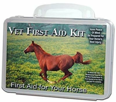 First Aid Kit for Horses with Case Travel Equine Leg Wrap Wipes Gauze Bandages