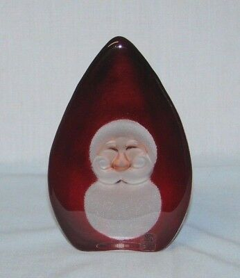 Mats Jonasson Unique Handcrafted Christmas SANTA CLAUS Sculpted Swedish Crystal