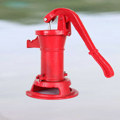 Heavy-duty Hand Pump Cast Iron Well Water Pitcher Press Suction Yard Ponds Xmas