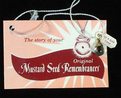 Vintage Gold Filled Mustard Seed Remembrancer Charm or Pendant Org. Package