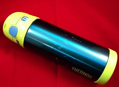 Thermos FunTainer Bottle Cup Container Teal/Green MATALLIC 16oz Bottle