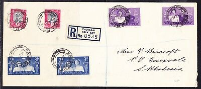 South Africa 1947 R0635 Kalk Bay to Southern Rhodesia Cover