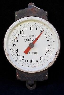 Vintage Chatillon Milk Scale - Farmers Milk Scale - Vintage Country Store Decor