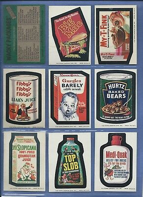 Wacky Packages Series 7 Complete Set Nm/Nmmt 33 Of 33
