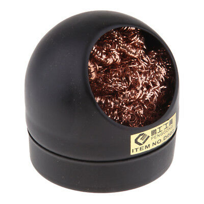 Soldering Iron Tip Cleaning Wire Nozzle Cleaner Sponge Ball & Storage Holder