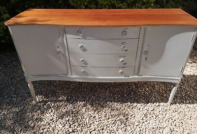 Solid Mahogany 4 Drawer Server Sideboard Lamp Room Gray Farrow And Ball