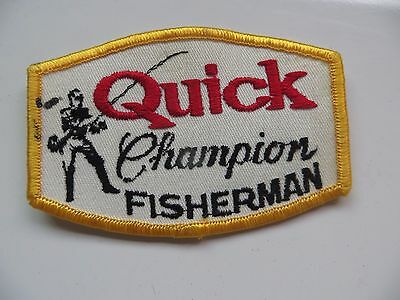 ORIGINAL, Quick Champion Fisherman,rare scarce company flyrod collectible patch