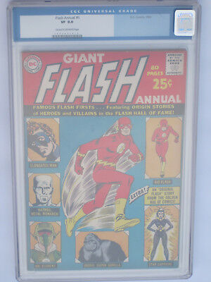 FLASH ANNUAL  # 1  US DC COMICS 1962 origin Elongated Man  CGC 8.0 VFN