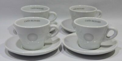 RICHARD CAFE  4 tasses / soucoupes Neuf