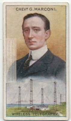 Marconi Wireless Telegraphy Radio Physics Electricity 90+ Y/O Trade Ad Card