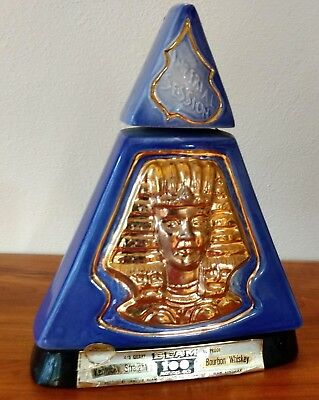 Jim Beam Pyramid Decanter Indiana 1970