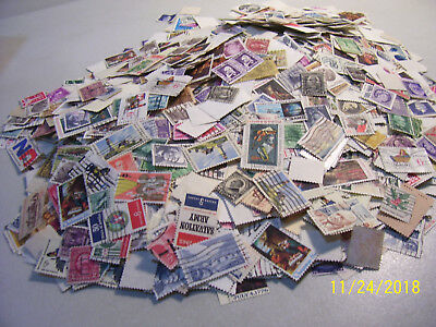 Unsearched 1/4 Pound Mix Lot of U.S.Off Paper Stamps Including many Setenants