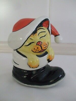 Lorna Bailey Cat -  SANTA'S SURPRISE - Lt.Ed. 2002 - Exc. Cond. - FREE P&P