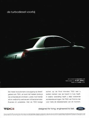 2002 Ford Mondeo TDCi (Dutch, 1pg.) Advertisement (AAA.749)