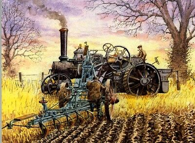 Plowing by steam,South Dakota,c1907,tractor,Farming,Traction Engine,Agriculture