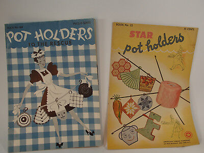 1941 Vintage Kitchen Crochet Pot holder booklet #164  Star brand # 32  1944
