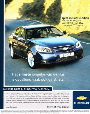 2006 Chevrolet Epica Business Edition (Dutch, 1pg.) Advertisement (AAA.794)