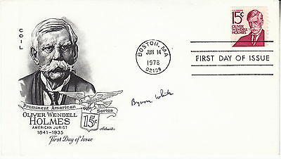 BYRON WHITE (1917-2002) hand signed 1978 FDC cover autographed - Supreme Court