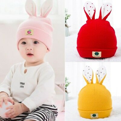Toddler Baby Kids Boy Girl Cartoon Rabbit Ear Hat Baby Winter Warm Knitted Cap t