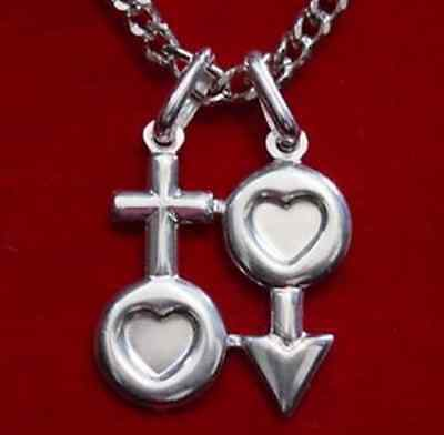 LOOK Celtic His & Hers Love Amulet Pendant Charm Jewelry