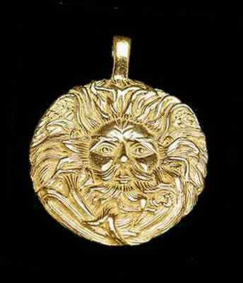 LOOK Celtic Pendant Charm Belenos Sun God 24kt Gold plated
