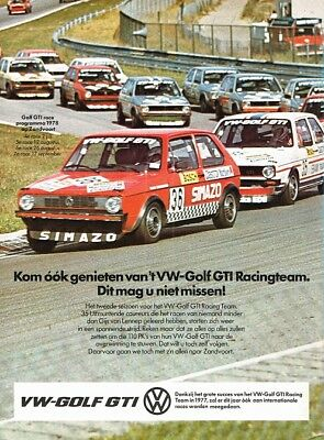 1978 VW Golf 1 GTI Racing Team Zandvoort (Dutch, 1pg.) Advertisement (AAB.007)