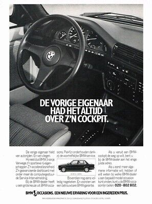 1988 BMW E30 3-Serie Occasions (Dutch, 1pg.) Advertisement (AAB.074)