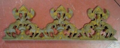 Architectural Salvage Cast Iron Rusty Floral Standing Plaque