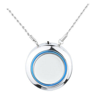 Air Purifier Freshener Necklace Personal Portable Ionizer USB Port Silver